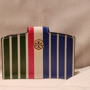 Multi colored Tory Burch wallet